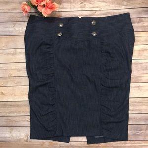 Torrid NWT Chambray pencil skirt. Size 20